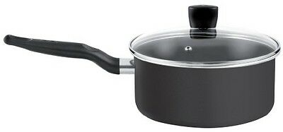 Tefal Resistium Non-Stick Just 20 cm Saucepan With Glass Lid - Black