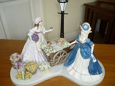 Coalport Large Limited Edition Piece The Flower Seller Boxed Figurine Gift