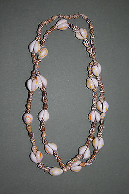 Vintage 34 Inch Ring Top Cowrie Shell Necklace