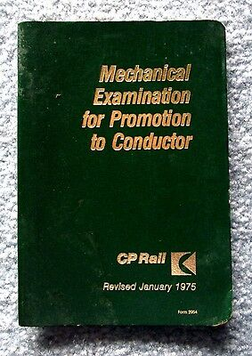 1975 CP Rail Mechanical Examination for Promotion to Conductor Booklet CPR mwbu