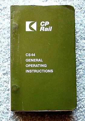 Canadian Pacific Railway CP Rail General Operating Instructions 1981 mwbu