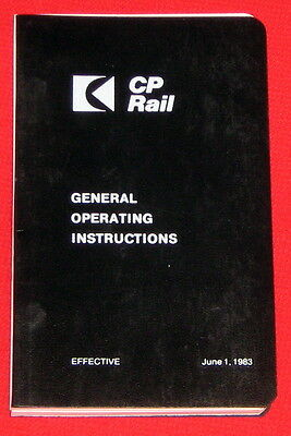 Canadian Pacific Railway CPR General Operating Instructions June 1983 u