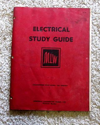 1954 Montreal Locomotive Works Electrical Study Guide for Locomotives msu4