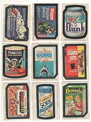 1975 Topps Wacky Packages 72 Sticker Card Lot  Slight Warp Musty