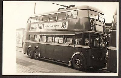 Real Photo Postcard Size London Transport Trolley Bus Harlesden Route Via Putney