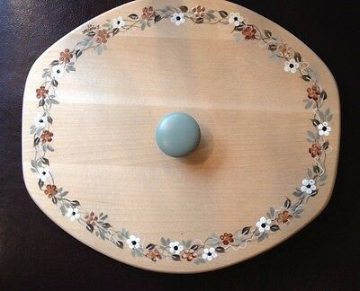 Custom Made LID ONLY for Longaberger Heartwood Serving Bowl, Handpainted - New