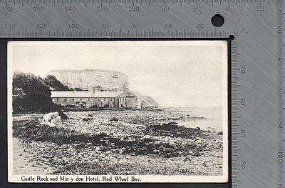 Wales - Anglesey Red Wharf Bay 1929 - Castle Rock & Min y Don Hotel Pub Lewis