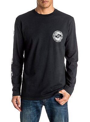 QUIKSILVER MENS T SHIRT.NEW BALANCED LONG SLEEVED TOP with BACKPRINT 7S/319/KVJO