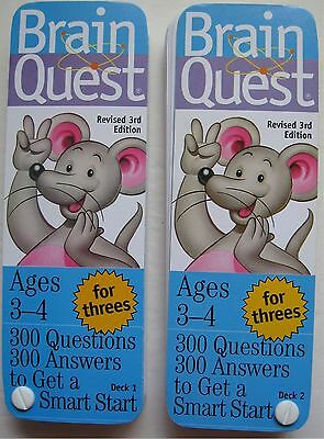 Brain Quest Ages 3-4 300 Questions and Answers 2 Flash Card Decks Copyright 2005