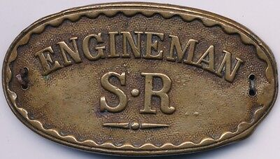 Vintage Railway Company Cap Badge Southern Region Engineman S.R. Sew on Badge