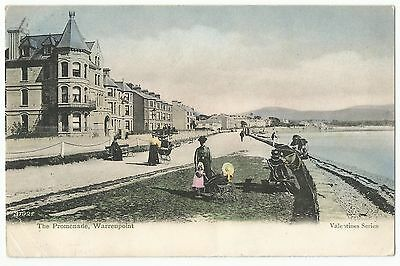 Old Postcard 'The Promenade' Warrenpoint Co Down 1906