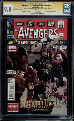 Avengers #1 Coming Of The Avengers Cgc 9.8 Ss Stan Lee, Romita Jr. #1118205030