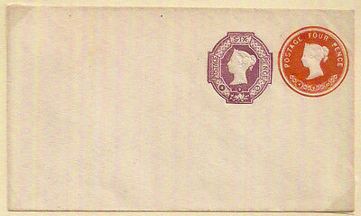 1885 QV 4d+6d STO POSTAL STATIONERY ENV 4-9-85 DATED UNUSED VGC