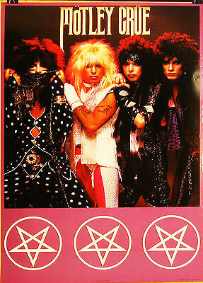 "Motley Crue Shout at the Devil VINTAGE PROMO POSTER 1983  24"" x 34"" VERY GOOD"
