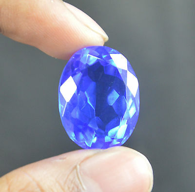 TOPAZ NATURAL EARTH MINED OVAL CUT UNTREATED BLUE GEM 22.60CT 19.71x14.75MM
