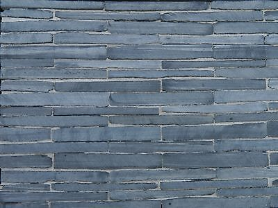 100 sq ins Sawn Face REAL SLATE Miniature Walling Slips for Miniature Models