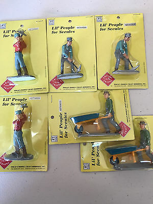ARISTO-CRAFT G-Scale Set of 6 Track or Construction Workers With Tools   New