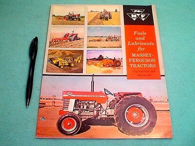 Vintage Massey Ferguson Fuels And Lubricants 15 Page Brochure
