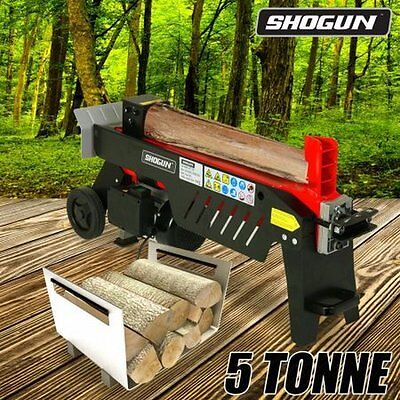 NEW 1500W 5 Tonne Hydraulic Power Outdoor Garden Tool Log Splitter with Panel