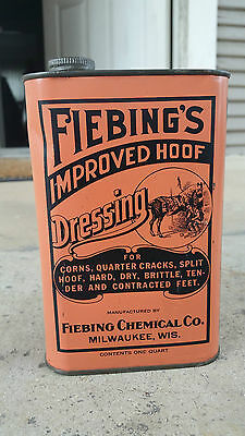 Fiebing's Hoof Dressing for Horses Veterinary Medicine Tin,,Milwaukee,Wisconsin