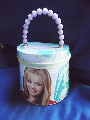 Disney Hannah Montana tin box purse lavendar turquoise girl's child's handbag