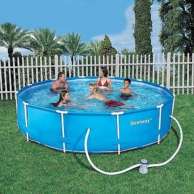 """BESTWAY STEEL PRO FRAME SWIMMING POOL WITH FILTER PUMP - 12' x 30"""" (56417)"""