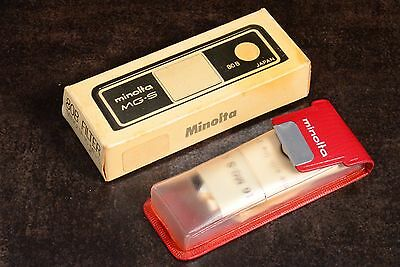 Boxed Minolta 16 Mg-S Sub Mini Camera 80B Filter Box Case And Manual Only