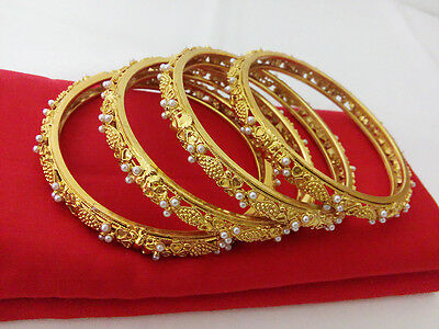 Antique jewellery Bangle Bracelet Bollywood Ethnic Gold Plated Traditional