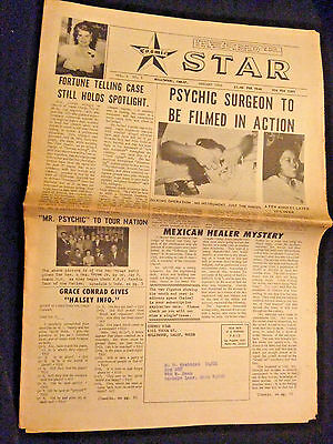 Vintage 1966 New-Age COSMIC STAR NEWSPAPER Psychic NOSTRADAMUS UFO HOLLYWOOD, CA