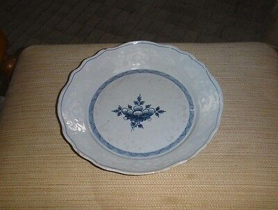 RARE ANTIQUE 18th CENTURY DUTCH DELFT BLUE AND WHITE POTTERY BOWL PLATE DISH