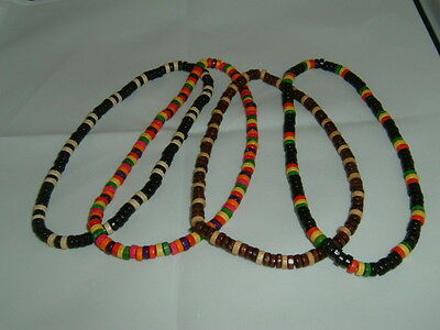 Rustic, retro, ethnic, surfer necklace, in a choice of 4 colourways..