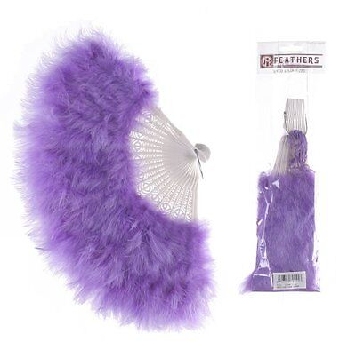 Zucker Feather Large Marabou Feather Fan Lavender, New