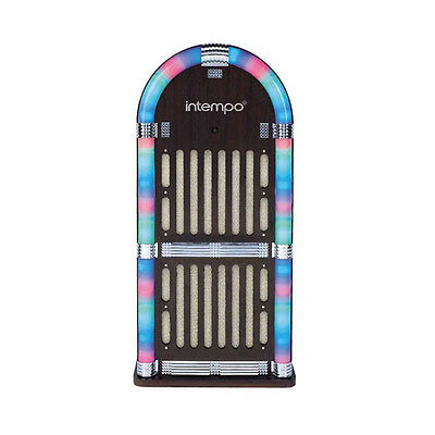 1950's Retro Style Bluetooth Electric Jukebox With Led Light FM Radio Ex Display