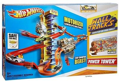 Hot Wheels Power Tower Motorized Wall Track Set Brand New, Sealed