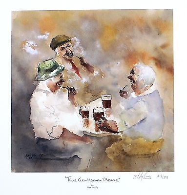 "DES BROPHY ""Time Gentlemen Please"" pub drinking SGD LTD SIZE:33cm x 32cm NEW"