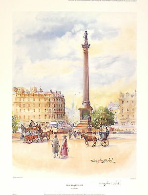 "DOUGLAS WEST ""Trafalgar Square"" london nelson SGD LTD! SIZE:47cm x 36cm NEW RARE"