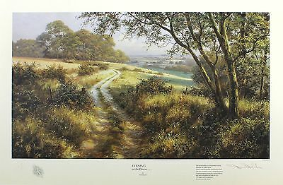 """DAVID DIPNALL """"Evening on the Downs"""" country SIGNED LTD SIZE:45cm x 64cm NEW"""