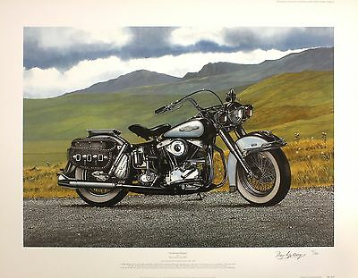 "RAY GOLDSBROUGH ""American Dream"" harley davidson SIGNED SIZE:54cm x 70cm NEW"