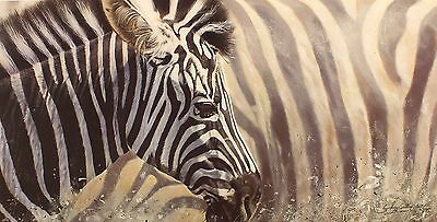 "LYNDSEY SELLEY ""Mix & Match"" zebra africa SIGNED LTD ED SIZE:39cm x 65cm NEW"