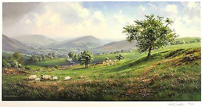 "REX PRESTON ""Springtime"" dales sheep farm SGD LTD ED! SIZE:39cm x 69cm NEW RARE"