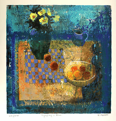 "BARBARA STEWART ""Symphony in Blue"" SIGNED LTD EDITION! SIZE:72cm x 68cm NEW RARE"