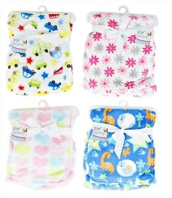 Fleece Baby Blanket Unisex Girl Boy New-born pram Basket First Steps