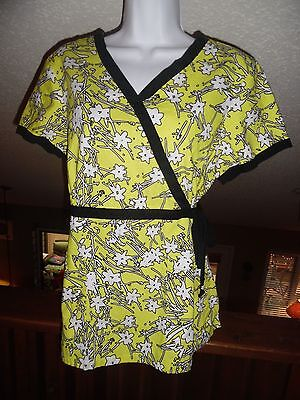 Koi Scrub Top - Women's Size Large - Ties on the Side