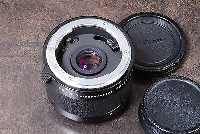 Superb! Nikon  2X Teleconverter Tc-201 Ai-S Fitting With Front & Rear Caps