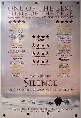 Silence - original DS movie poster - D/S 27x40 - Martin Scorsese - Review Style