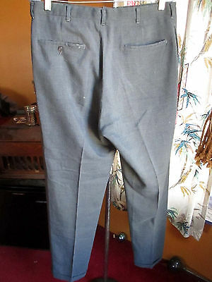 33x32 True Vtg 60's Mens MOD STOVEPIPE LEVIS GREY/BLU Garage BAND Trousers pants