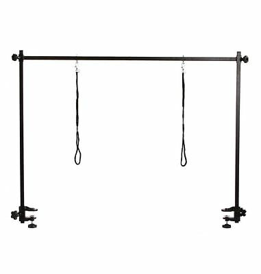 Groomex dog grooming arm H bar for grooming table with 2 noose and 2 clamps