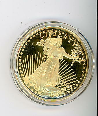 1933 United States Treasury LIBERTY $20 Dollar 24 kt Gold Plated Coin COPY 2003!