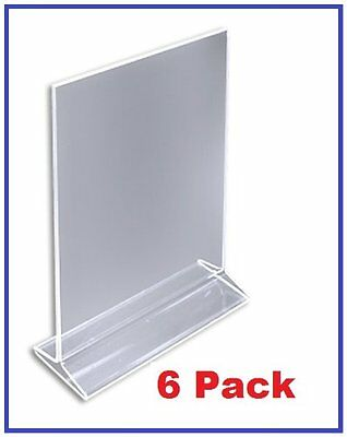 ChefLand Acrylic Sign Holder/Table Card Display/ Up Menu 4 by 6in 6-Pack, New