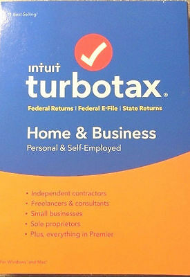 NEW Intuit TurboTax 2016 Home & Business for Windows and Mac